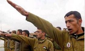Palestinian Police give Nazi Salute