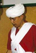 Barack Hussein Obama in Muslim Garb